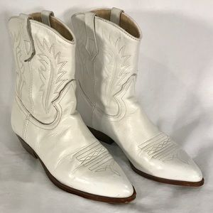 Vintage '80's Westies Leather Western Ankle Boots